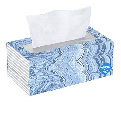 Kleenex Trusted Care Facial Tissues, 1 Flat Box, 144 Tissues per Box for $1.00