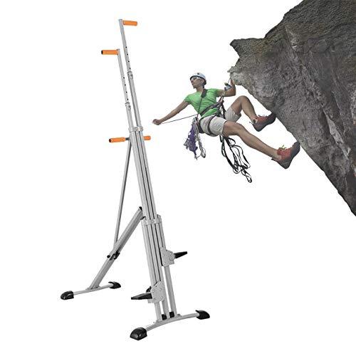 ZhiLianZhao Máquina de Cardio de Escalada de Fitness, Máquina de Escalada Entrenamiento de Cuerpo Completo, Altura Ajustable de 5 Niveles para Oficina en Casa Quemar Grasa