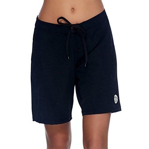 "Body Glove Women's Smoothies Harbor Solid 8"" Vapor Boardshort, Black, X-Small"