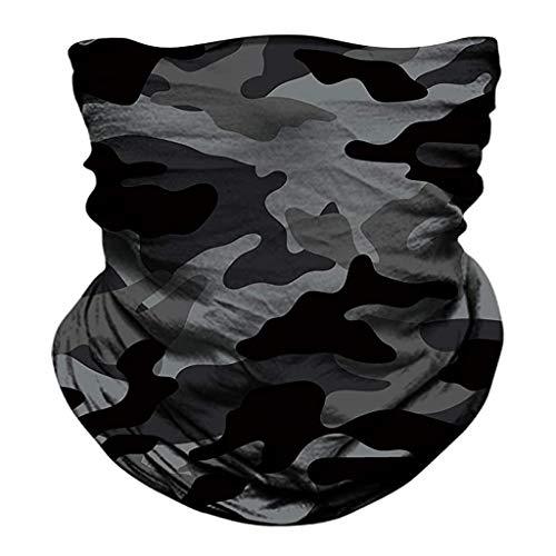 Xniral Magic Schal Outdoor Kopfbedeckung Bandana Sport Tube UV Gesichtsschal Workout Wandern Lustige Gesichtsserie(D)