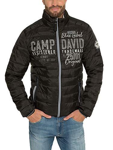 Camp David Herren Leichte Steppjacke mit Logo-Applikation