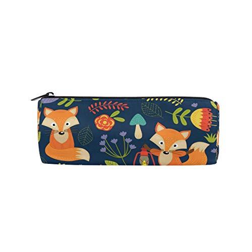 IOPLK Kulturbeutel runde Federmäppchen Kosmetiktasche Federmäppchen Retro Audio Tapes Pencil Bag Pen Case Students Stationery Pouch Zipper Bag for Girls Boys Kids