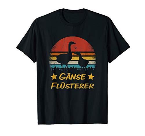 Gänse Flüsterer Landwirt Bauer Bauernhof Tiere Hausgans T-Shirt