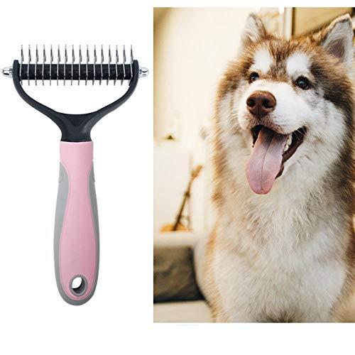 Pet Comb Beauty Reinigungsprodukte Hund Kamm offene Knoten Enthaarung Nagel Harke Kamm Edelstahl Hundekamm