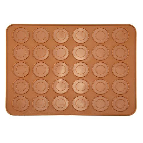 Alvinlite Macarons Mat Silicona Forma Redonda Cocinar Utensilios para Hornear Plantilla para Hornear Hoja de Almohadilla 1 PCS 30 Agujeros