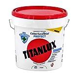 Titanlux - Pintura Plástica Cobertura Total Protect ANTIBACTERIANA Paredes y Techos (4L, Blanco)