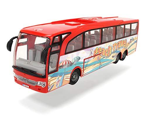Dickie Toys 3745005 Autobus multicolore con motore pullback, scala 1:43, Interno/Esterno