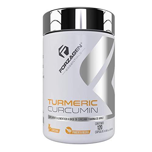 FORZAGEN Essentials | Hecho en EUA | Turmeric Curcumin - 120 Capsulas **Más contenido** | Raíz de Cúrcuma Importada | 400 mg | Con Pimienta Negra | Excelente Antioxidante y Antiinflamatorio | Fortalece Sistema Inmune | Soporte para Articulaciones | Mejora el Sistema Digestivo | Suplemento Natural