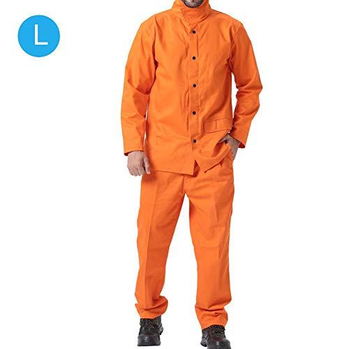 Schutzkleidung, verschleißfestes feuerfestes Schweißen Schutzkleidung Zweiteiliges Set Sicherheitsschweißgerät Arbeitsschutz für Schweißgusschemikalien(#2)