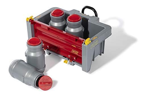 Rolly Toys 408894 rollyBox mit Milchkannen Transportmulde für Trettraktor (3-10 Jahre, Mulde kippbar, Heckklappe ABN.)
