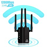 Best Wi Fi Boosters - Carantee 1200Mbps WiFi Range Extender, Wireless Signal Repeater Review