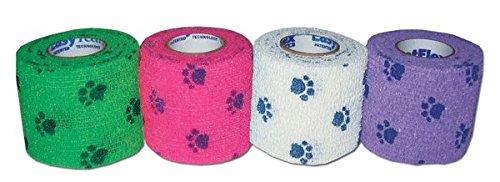Petflex Pawpack Bandage pour chien 7,5 x 450 cm Lot de 4. Bande cohésive pour animaux de compagnie, chiens et chats.