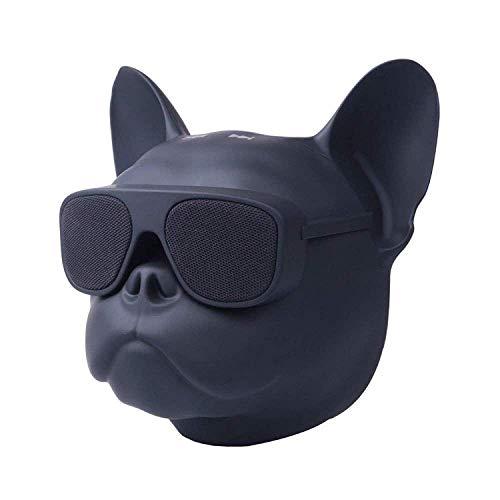 Stylin' Bulldog Head Speaker! 8W Portable Bluetooth Speaker Stereo, French Bulldog Speaker for Phone, Computer, Tablet