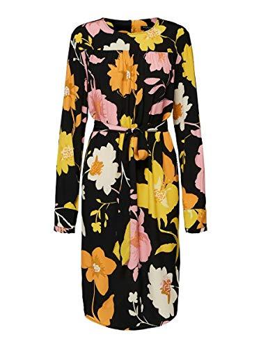 SELECTED FEMME 16070568 Vestido, Multicolor (Negro Negro), 36 (Tamaño del Fabricante: 36)...