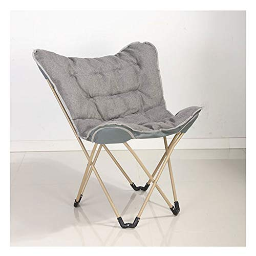 LSF Mobiler Mondstuhl Fauler Klappstuhl Tragbare Falten Saucer Padded Moon Chair Comfort Wohnzimmer Schlafzimmer Gartenmöbel Camping (Color : A)