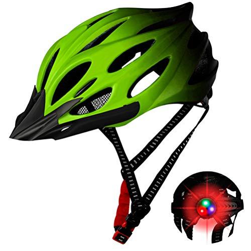 Einsgut Fahrradhelm Sicherheit Einstellbare Mountain Road Fahrradhelm Licht Fahrradhelm für Männer Frauen mit abnehmbarem Visier(Gelb)