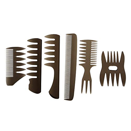 Tickas Hair Combs - 6Pcs Hair Combs Detailing Brush Hair Comb set Shaping Wet Pick Barber Brush Tools Best Styling Comb for Men Women