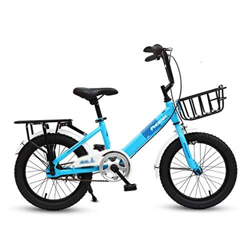 Fiets Meisje Fiets Enkele Snelheid Bike City Fiets Vouwfiets Hoog Koolstofstaal Frame, 16