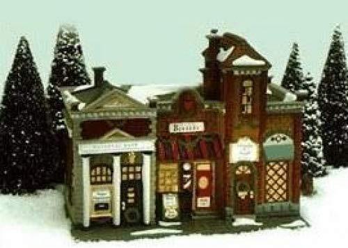Dept 56 de Noël dans la ville * * * * * * * * * * * * * * * * Riverside rangée Magasins * * * * * * * * * * * * * * * * (58888)
