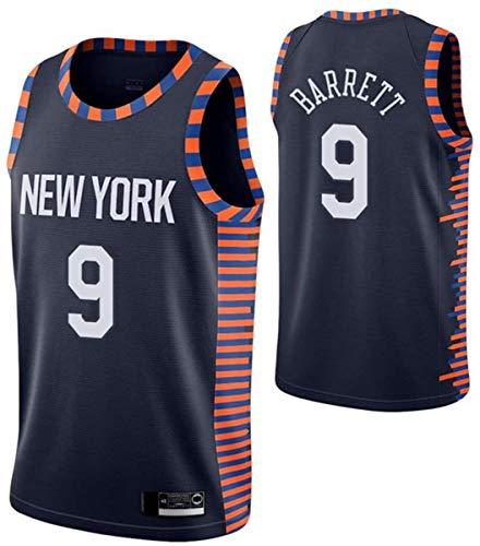 Camiseta De Baloncesto para Hombre De La NBA, Camiseta De Los Knicks De R.J.Barrett N. ° 9, Uniforme De Fan Unisex All-Star De Tela Fresca Y Transpirable,2,XL (180~185CM / 85~95KG)