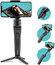 ZHIYUN P1- Handheld 3-Axis Foldable Gimbal Stabilizer for Smartphone - iPhone/Android, with Extensional Stick and Grip Tripod, Vlogger and Youtuber Live Video Record Kit