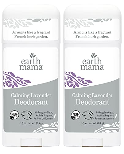 Calming Lavender Deodorant by Earth Mama   Natural and Safe for Sensitive Skin, Pregnancy and...
