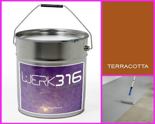 6,75€/l - 20L Bodenbeschichtung Betonfarbe Bodenfarbe Bodenversiegelung Garagenfarbe Terracotta