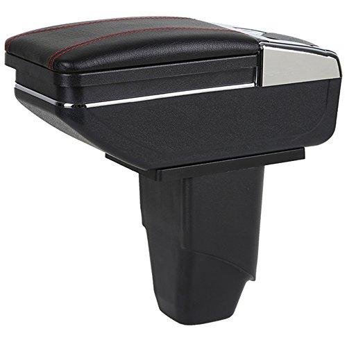 Maiqiken Voiture Accoudoir Box Accoudoir pour 206 207 2006–2013 Cendrier de Rangement intérieur de Voiture Accessoires de Décoration pour Noir