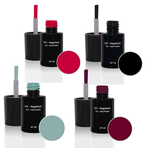 UV Vernis à ongles Set 4 x6ml - UV Vernis à ongles Set N°4