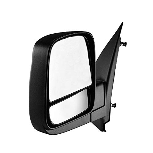 Driver Side Textured Side View Mirror for 08-14 Chevy Express & GMC Savana 1500, 08-17 Chevy Express 2500 3500, GMC Savana 2500 3500 - with Blind Spot Corner Glass - GM1320395