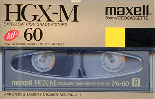 Maxell HGX-M 60 Minute 8mm Blank Video Cassette Excellent High Grade Picture Camcorder Blank Media Tape