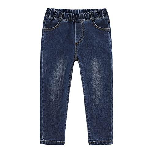 EISHOW Baby Toddler Stretch Skinny Jeans, Kids Boys Girls Super-Soft Elastic Waist Denim Pants School Leggings Straight Jeans (Blue,1-2 Years,1 Year,2 Years)