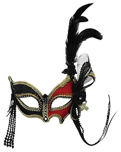 Red/Black + Feather (On Headband)