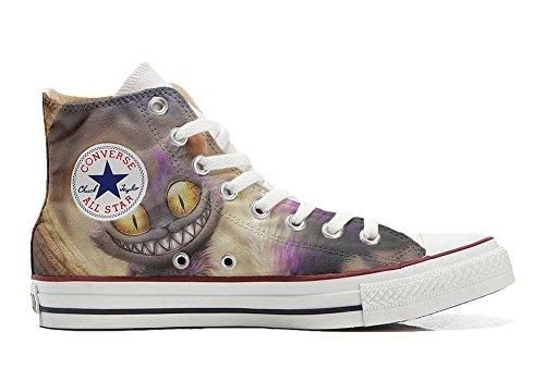 MYS Schuhe Custom Sneakers American USA, personalisierte Schuhe (Handwerk Produkt Customized) Katzenaugen - Size EU 45