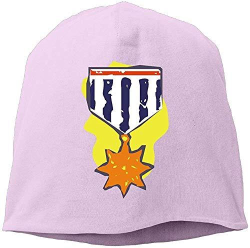 RROOT Mode Effen Kleur Star Medal Coltrui Cap Voor Unisex Roze