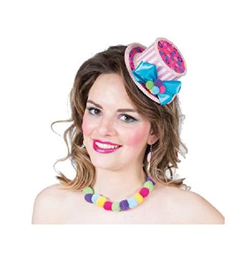 narrenkiste Oh7029 pink-bunt Damen Candy Hut Sweety Minihut