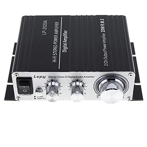 PolarLander LP2020AアンプLP-2020A HiFiデジタルステレオアンプ、過電流保護、赤外線リモコン付き