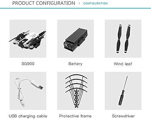 Comomingo SG900-S RC Smart Faltbarer Selfie GPS-Drohne HD 1080P Kamera H nstand (Weiß