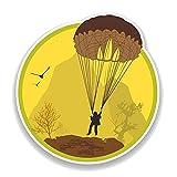 A/X 13,3 CM * 14,2 CM Divertido buscador de emociones Paracaidismo calcomanía PVC Motocicleta Coche Pegatina 11-00768