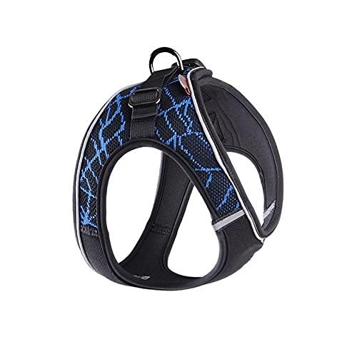 Arnés para perros Puppy Cat Harness Strap No Pull Dog Harness Adjustable Reflective Pet Collar Dog Walking Mesh Vest For Small Medium Dogs Arnés para gatos (Color : Blue, Size : L Chest (60-65cm))