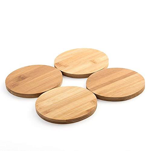 LCQI Untersetzer aus Bambus, Vintage, rund,