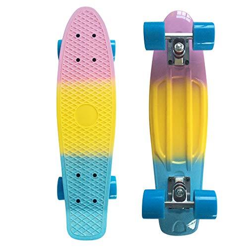 SHUNAGA Skateboard für Anfänger, Geburtstagsgeschenk für Teenager und Erwachsene Skateboard Adult Maple Board Skateboard