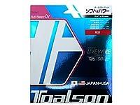 トアルソン(TOALSON) テニスガット バイオロジック ライブワイヤー 125(レッド) 単張りガット 7222510R 0 0