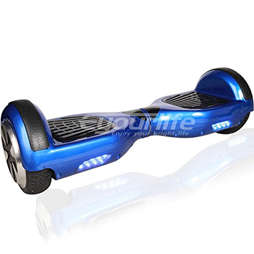 Eyourlife 6.5' UL2272 Certified Smart Self Balancing Hoverboard Personal Adult & Kids Transporter with LED Light,Mobile App Connect(Blue)