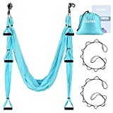 Gonex Aerial Yoga Swing Set, Yoga Hammock Trapeze Sling Kit...