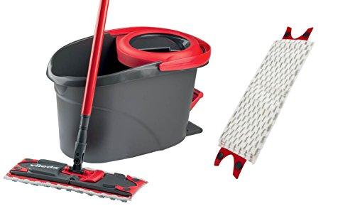 Vileda EasyWring Ultramat Bodenwischer und Rotationseimer mit Zusatzbezug Bodenreiniger, Polyester, Polyamid, Polypropylen