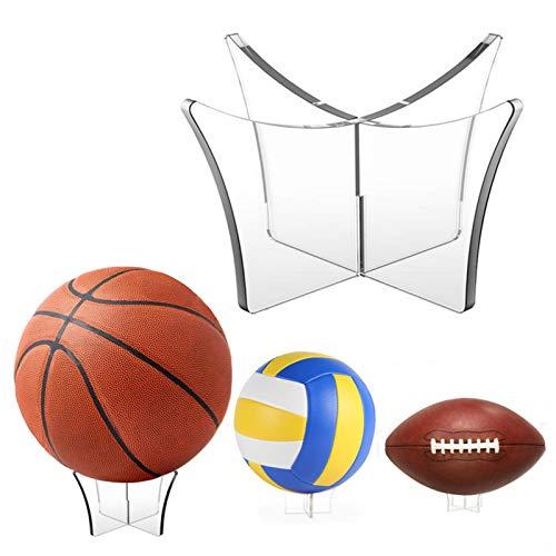 Soporte para pelota, soporte para pelotas, acrílico, base para fútbol, baloncesto, voleibol, rugby – transparente acrílico