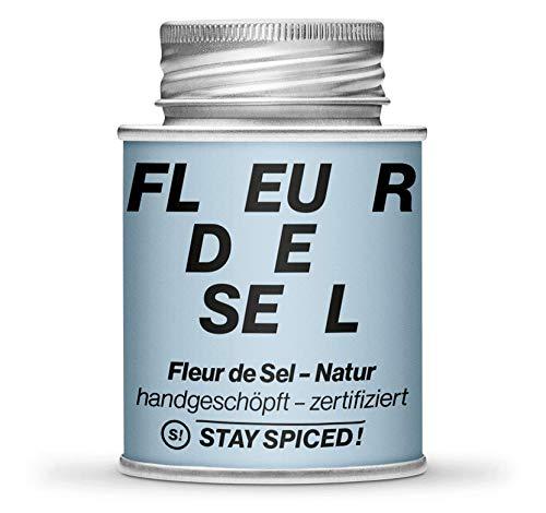 STAY SPICED ! Erstklassiges französisches Fleur de Sel / Flor de Sal   Salz   Gourmetsalz   Verpackt in einer 170 ml Schraubdose