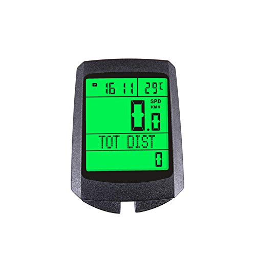 zwq Bicycle Odometer Wireless Waterproof Bike Speedometer.Multi-Function Bike Computer with FSTN Display.Speed Tracker Cycling Accessories,Visibility at Night,20 Function Displays. (Black)