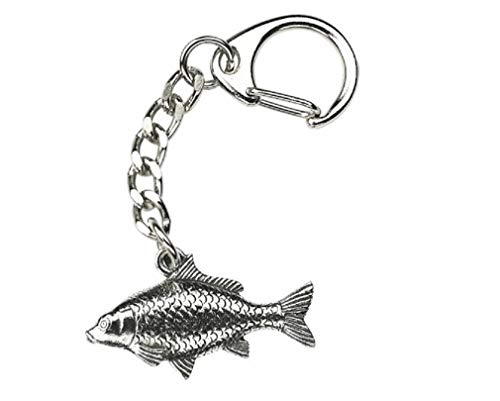 Carp Fish Pewter Fishing Keyring (Comes in Gift pouch)